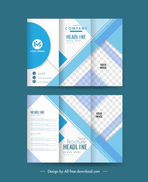 corporate brochure template elegant checkered decor trifold design