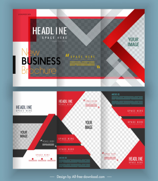 corporate brochure template elegant modern checkered decor