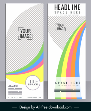 corporate brochure template modern checkered colorful lines decor
