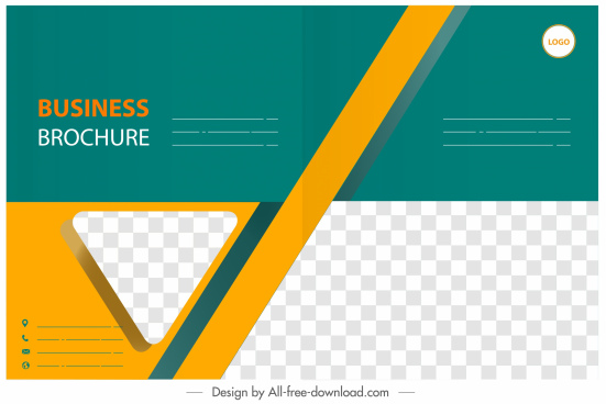 corporate brochure template modern colored checkered geometric decor