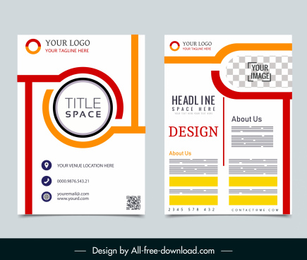 corporate brochure template simple modern flat decor