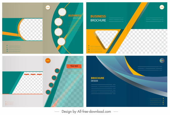 corporate brochure templates colorful modern dynamic geometric decor