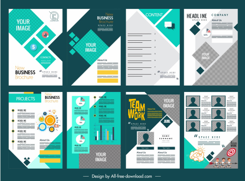 corporate brochure templates colorful modern layout