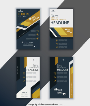 corporate brochure templates elegant dark decor vertical design