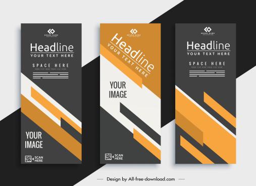corporate brochure templates elegant modern abstract decor