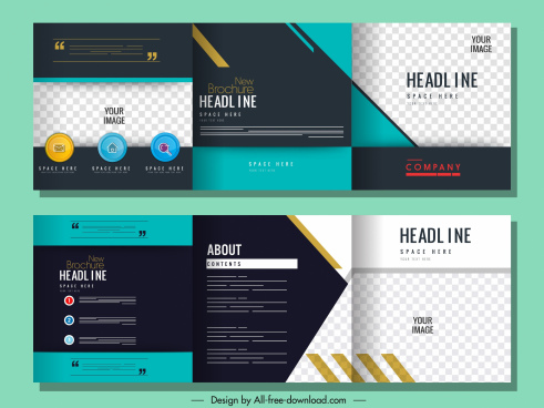 corporate brochure templates elegant modern colorful flat checkered