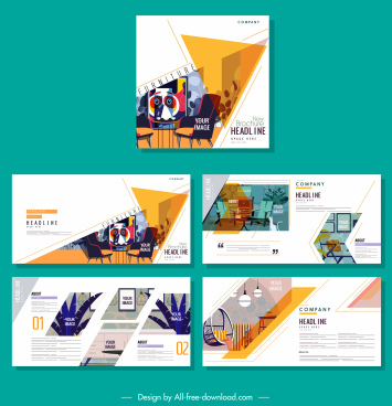 corporate brochure templates furniture decor colorful classic