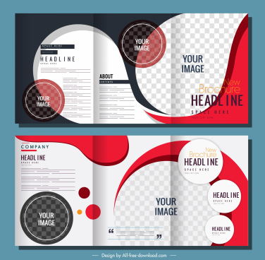 corporate brochure templates modern checkered circles curves decor