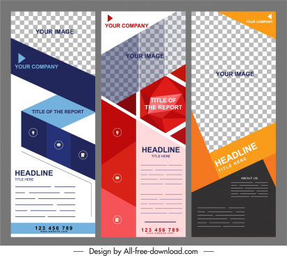 corporate brochure templates modern checkered geometric decor