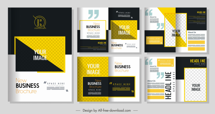 corporate brochure templates modern colorful elegant design