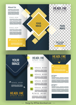 corporate brochure templates modern colorful plain checkered decor
