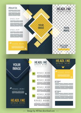 corporate brochure templates modern colorful plain checkered decor
