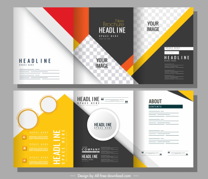 corporate brochure templates modern colorful trifold design