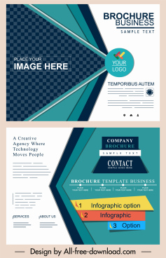 corporate brochure templates modern elegant colorful abstract decor