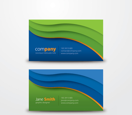 corporate business card vector graphic