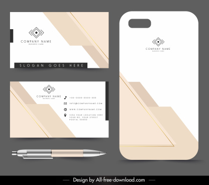 corporate card tag template flat bright modern decor
