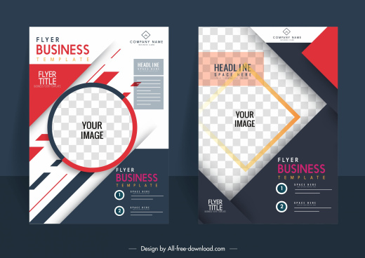 corporate flyer backgrounds colorful modern design checkered decor