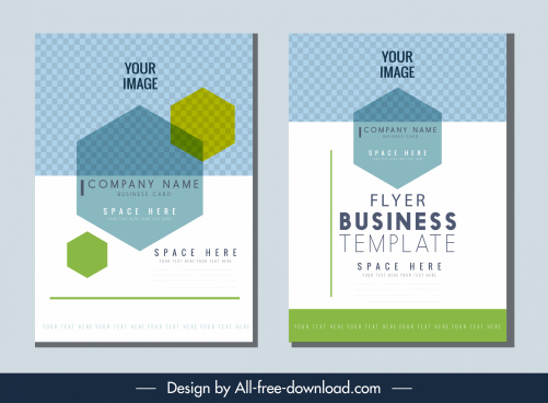corporate flyer cover template elegant geometric checkered decor