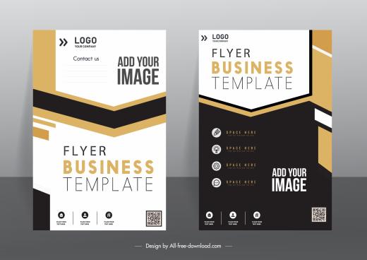 corporate flyer cover templates elegant modern contrast design