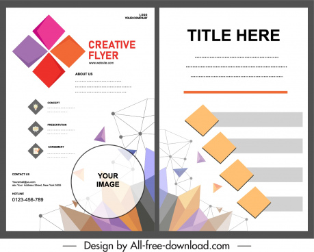 corporate flyer template bright modern geometric decor