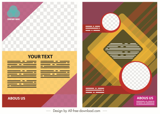 corporate flyer template colorful modern abstract decor