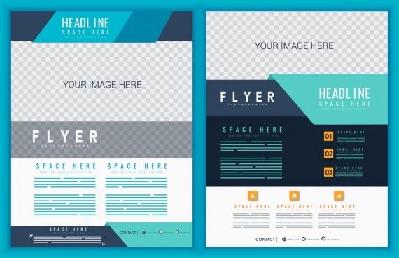 corporate flyer template modern checkered design