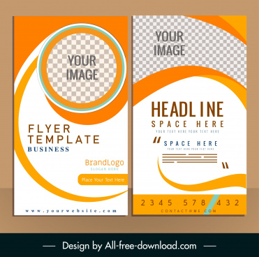 corporate flyer template modern colorful checkered decor