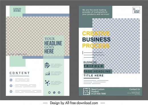 corporate flyer templates bright modern checkered decor