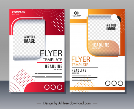 corporate flyer templates colorful bright decor modern design