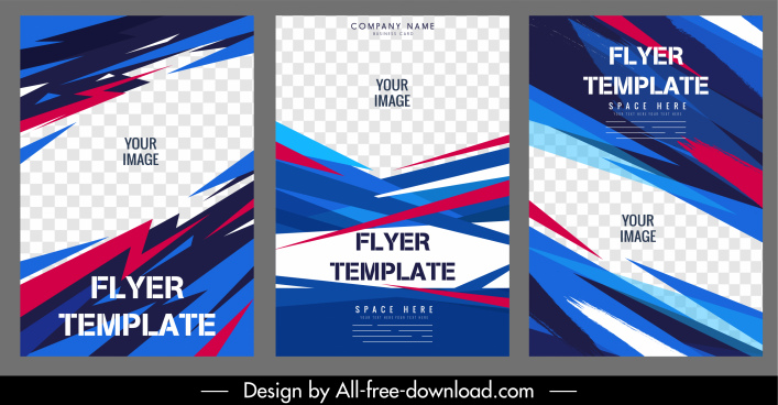 corporate flyer templates dynamic colorful checkered decor