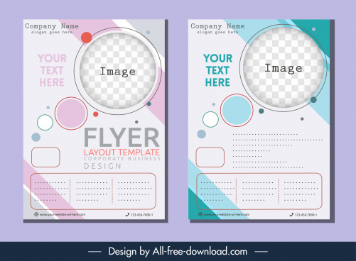 corporate flyer templates elegant geometric checkered decor