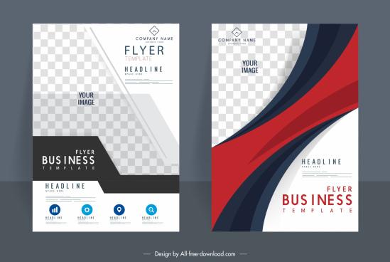 corporate flyer templates elegant modern checkered decor