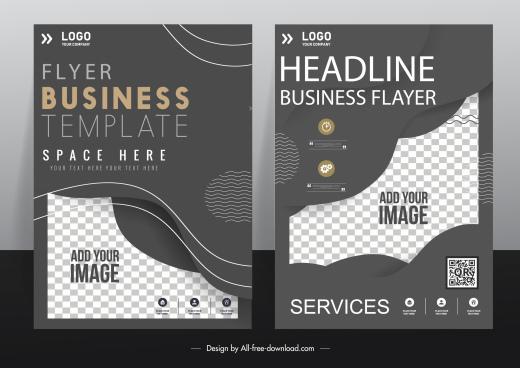 corporate flyer templates elegant modern dark design