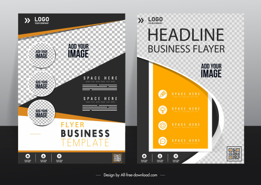 corporate flyer templates modern elegant checkered decor