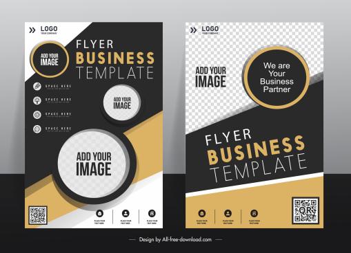 corporate flyer templates modern elegant contrast checkered decor