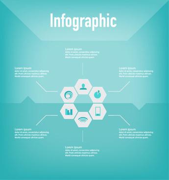 corporate icon design infographic vector
