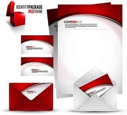 corporate identity kit cover vector set