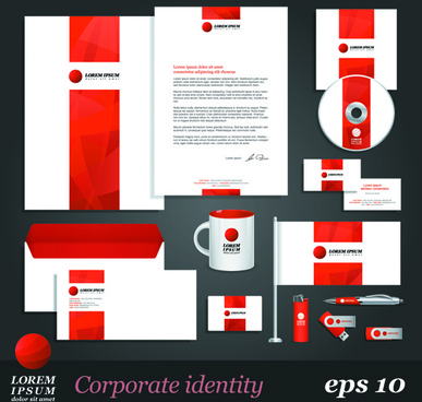 corporate identity kit vector templates