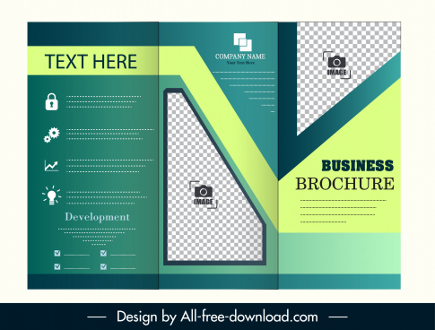corporate leaflet template modern trifold decor