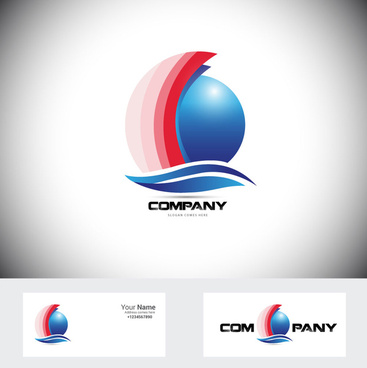 corporate logo design vector illustration