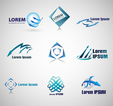 corporate logo design with blue color