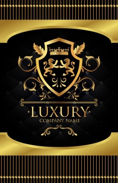corporate logotype classical symmetric shiny golden vip decor