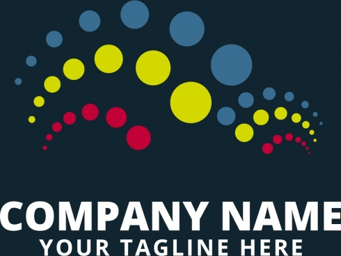 corporate logotype colorful circles decoration