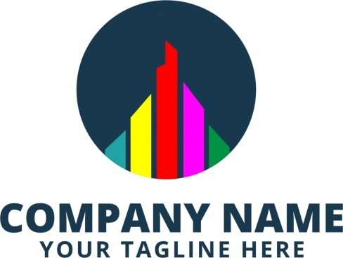 corporate logotype design colorful vertical bars decoration