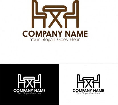 corporate logotype furniture emblem design