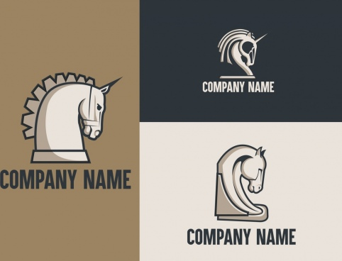 corporate logotypes horse icon design