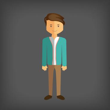 corporate person man vector design