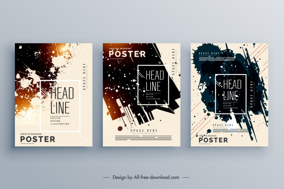 corporate poster template modern colored grunge decor