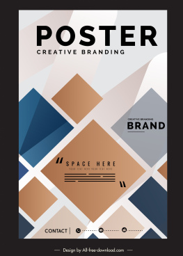 corporate poster template modern flat geometric decor