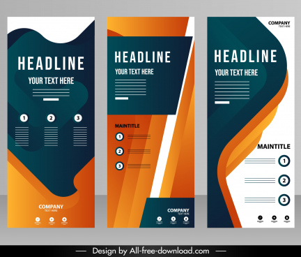 corporate poster templates modern colorful decor